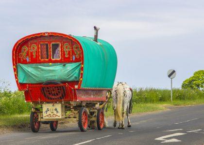 Old Gypsy Horse Drawn Caravan
